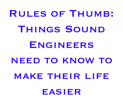 Rules of Thumb: